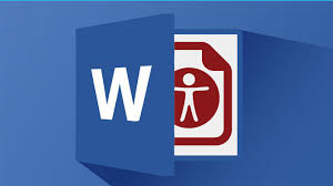 Word Document logo with accessibility symbol underneath