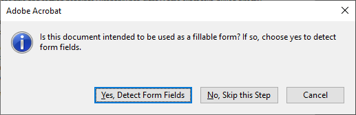 Asking whether PDF should be form