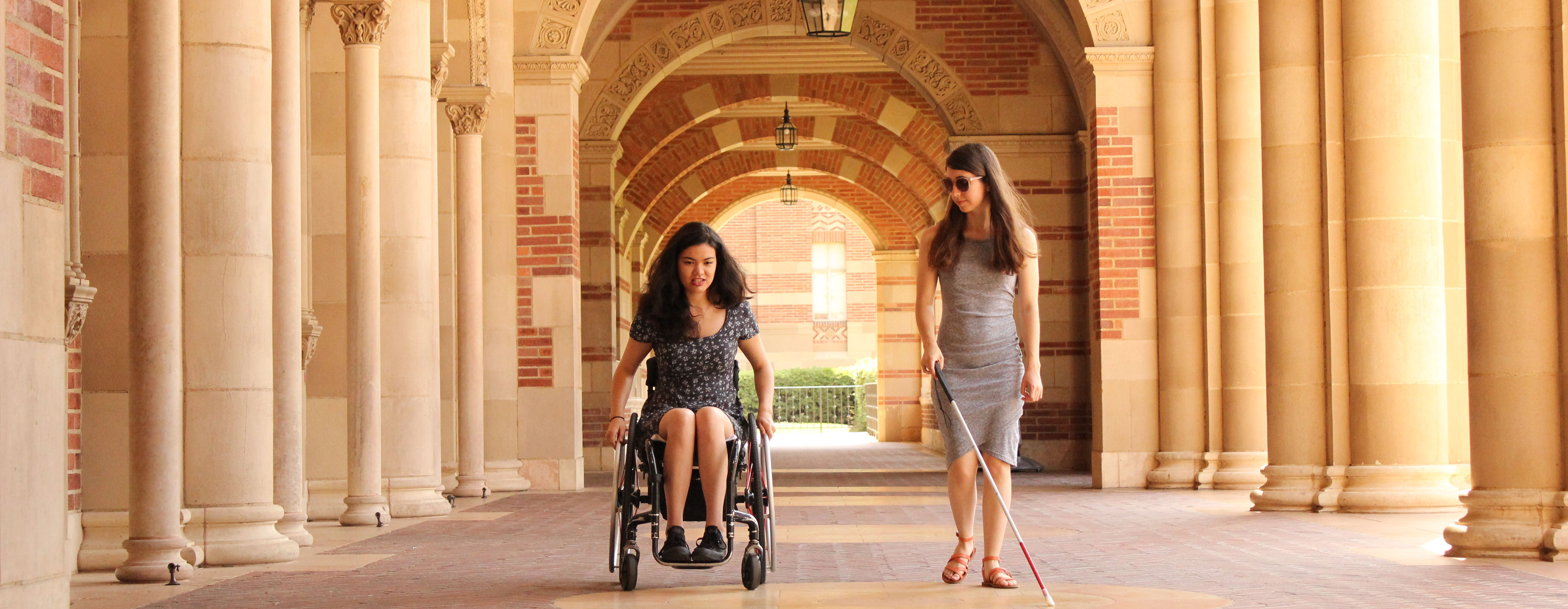 Carolanne Link and Megan Borella by Royce Hall
